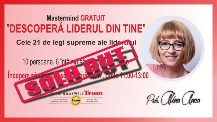 cover mastermind psiholog Alina ANCA sold out